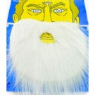 White Halloween Fake Beard Mustache Facial Hair Costume #11096