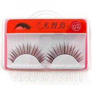 Black 10mm Fake False Eyelashes Lashes for Halloween Party #11723