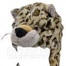 Leopard Cheetah Jaguar Light Brown Mascot Plush Fancy Costume Animals Fur Hat Cap #51374