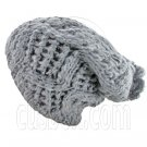 Plain Wool Beanie with Diamond Pattern Double Layer (GRAY) #51404
