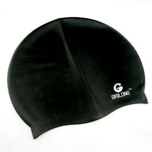 Silicone Swim Cap (BLACK) #50703
