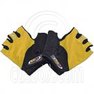 Gel Padded Palm Half Finger Cycling Bike Gloves YELLOW #51468