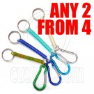 2x Extentable Strap 5cm Keychain with 5cm Pear Shaped Carabiner #51495