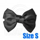 Pair Adorable 3inch 8cm Ribbon Bowknot Bow Tie Alligator Hair Clips Small BLACK #51636