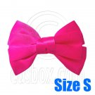Pair Adorable 3inch 8cm Ribbon Bowknot Bow Tie Alligator Hair Clips Small HOT PINK #51644