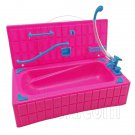 Pink Bathroom Bathtub Set 1:6 Blythe Barbie Doll's House Dollhouse Furniture #12376