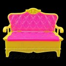 Pink Yellow Sofa Sleeper 1:6 New Barbie Blythe Doll's House Dollhouse Miniature #12407
