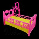 Plastic Nursery Crib Cradle 1:6 Barbie Kelly Doll's House Dollhouse Miniature #12413