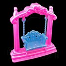 Pink Blue Swing Bench Chair 1:6 Barbie Blythe Doll's House Dollhouse Miniature #12416