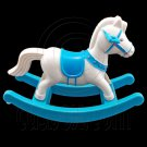Blue Rocking Horse Swing Chair 1/6 Barbie Kelly Doll's House Dollhouse Furniture #12592
