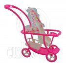 Pink Nursery Baby Stroller New 1/6 Barbie Kelly Doll's House Dollhouse Furniture #12595