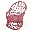 Pink Wire Stylish Wicker Peacock Chair New 1/12 Doll's House Dollhouse Furniture #12482