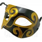 Golden Black Floral Mardi Gras Venetian Masquerade Party Face Eye Mask Halloween #12544