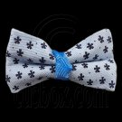 Pair Mini Size 5cm 2inch Kids' Bowknot (Star Pattern) Bow Tie Alligator Hair Clips BLUE #51721