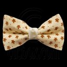 Pair Mini Size 5cm 2inch Kids' Bowknot (Star Pattern) Bow Tie Alligator Hair Clips YELLOW #51723