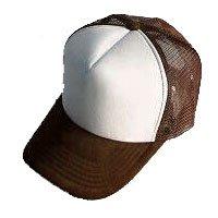 Plain Mesh Ball Cap (BROWN WHITE) #50554
