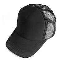 Plain Mesh Ball Cap (BLACK) #50556