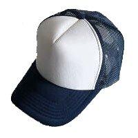 Plain Mesh Ball Cap (NAVY BLUE WHITE) #50563