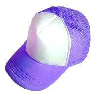Plain Mesh Ball Cap (PURPLE WHITE) #50573