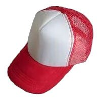 Plain Mesh Ball Cap (RED WHITE) #50574