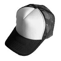 Plain Mesh Ball Cap (BLACK WHITE) #50578
