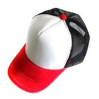 Plain Mesh Ball Cap (RED WHITE BLACK) #51200