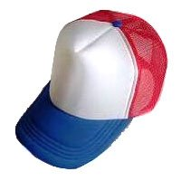 Plain Mesh Ball Cap (BLUE WHITE RED) #51201