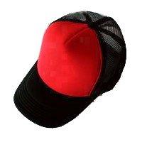 Plain Mesh Ball Cap (RED BLACK) #51202