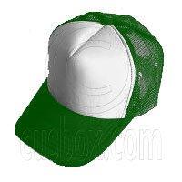 Plain Mesh Ball Cap (GREEN WHITE) #21328