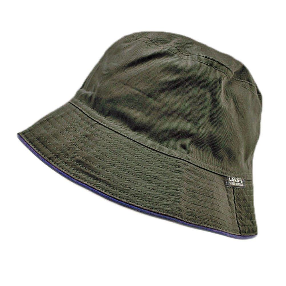 Reversible Outdoor Plain Bucket Hat (Dark Green / Khaki) #51751