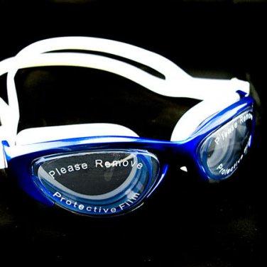 Anti Fog UV Mirror Reflective Protect Silicone Swimming Goggles 2120 BLUE #50352