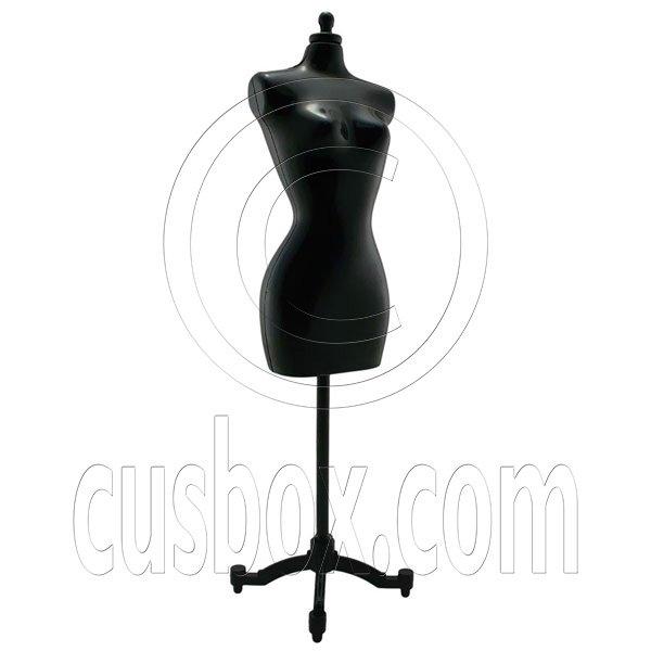 Black Dress Form Clothes Stand 1/6 Barbie Scale Doll's House Dollhouse Miniature #12704
