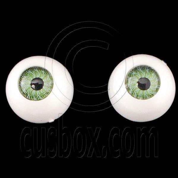Green One Pair Doll Eyes Ball Half Round Acrylic Dolls Eye 10mm for BJD Dollfie #12751
