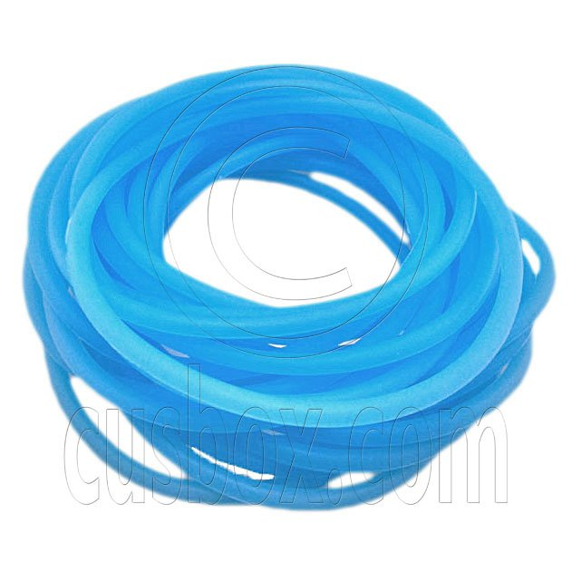 5 pcs Colorful Silicone Elastic Bracelet (Fluorescent Blue) #51868