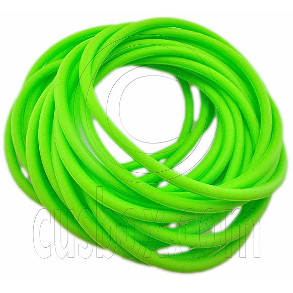 5 pcs Colorful Silicone Elastic Bracelet (Green) #51871