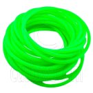 5 pcs Colorful Silicone Elastic Bracelet (Sharp Green) #51874