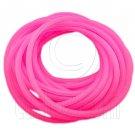 5 pcs Colorful Silicone Elastic Bracelet (Fluorescent Pink) #51880