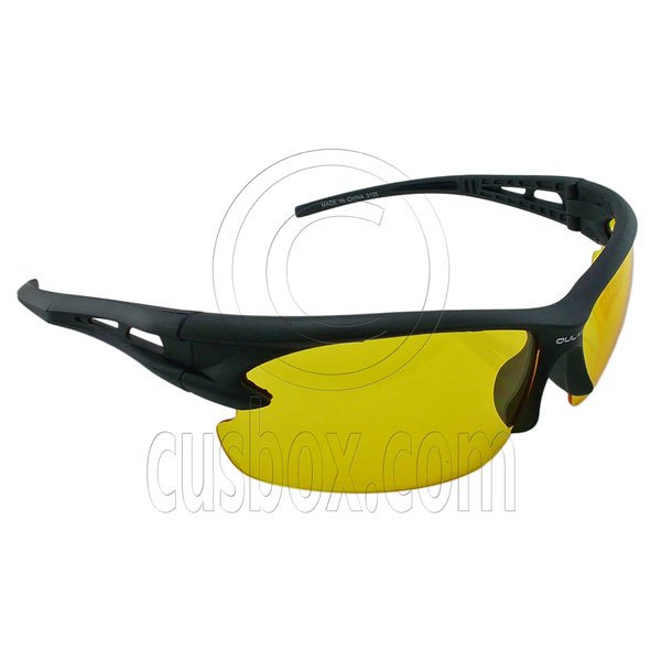 Yellow Professional Polarized Night Driving Low Light Foggy Cycling HD Glasses #12889