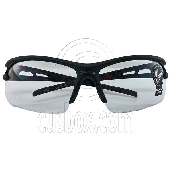 Clear Lens Professional Cycling Outdoor Sports Safety Glasses Anti-Scratch Crack #12892