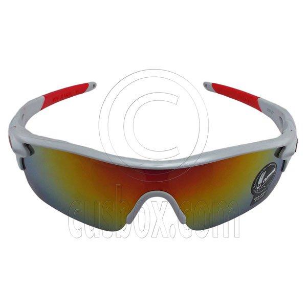 White Professional Polarized Biking Cycling Running Sport Wrap Around Sunglasses #12918
