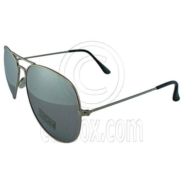 Designer Aviator Anti-Reflective Sunglasses UV400 Full Silver Mirror Silver Frame #12975