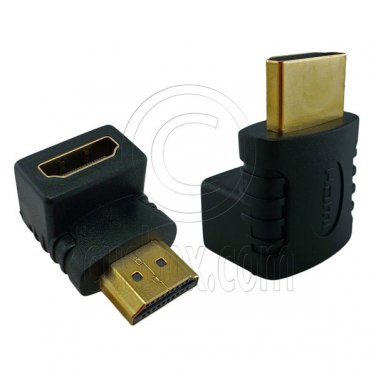 HDMI 90 Degree Right Angle 1.4 Adapter Male to Female for 1080p 3D TV LCD HDTV #12820