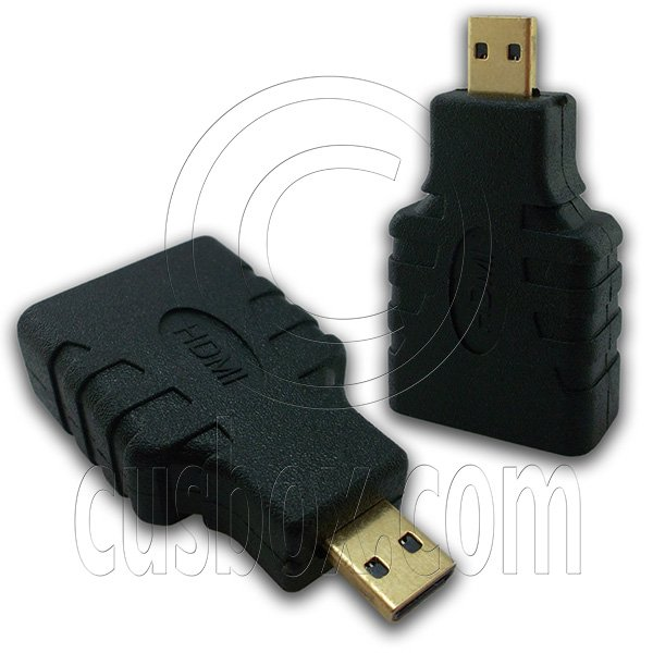 Micro HDMI 1.4 Type D Adapter Male to Female Type A for 1080p 3D TV LCD HDTV #12983
