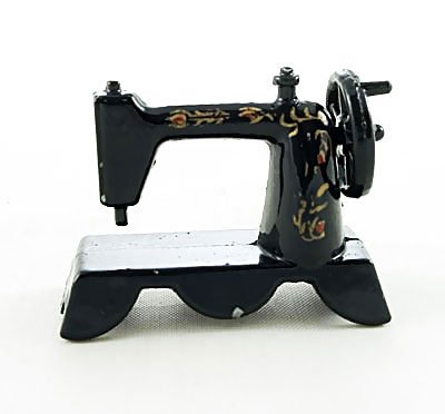 Vintage Black Tailor Sewing Machine Dollhouse Miniature #10250