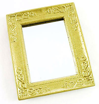 Victorian Gold Framed Wall Mirror Dollhouse Miniature #10262