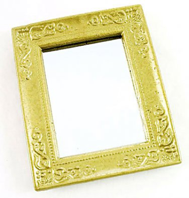 Victorian Gold Framed Wall Mirror Dollhouse Miniature #10262