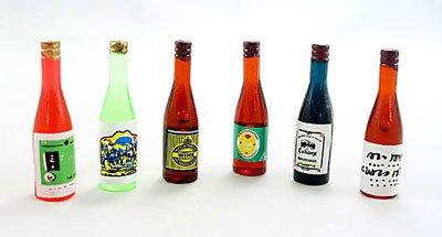 Lot/Set 6 Wine Beer Drinks Bottle Dollhouse Miniature #10281
