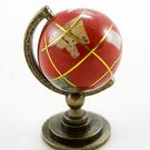 Vintage Red Earth Rolling Globe Dollhouse Miniature #10286