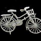 White Wire Mini Bicycle Bike Rare Dollhouse Miniature #10372
