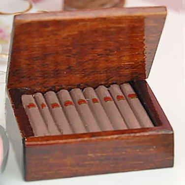Cigar Cigarette Tobacco Humidor Box Dollhouse Miniature #10375